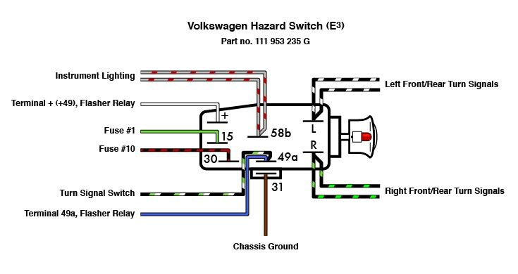 1968 vw beetle emergency flasher relay wiring diagram panic button wiring diagram emergency flasher wiring diagram #12