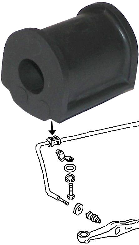 MM303723 - Grommet for stabilizer, front